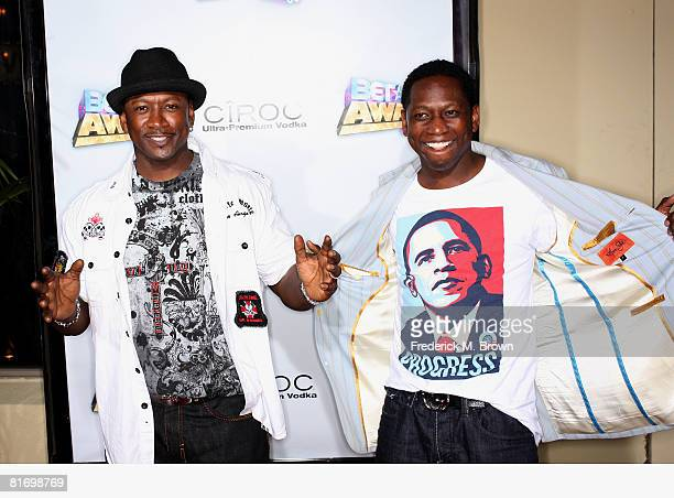 Comedians Joe Torry and Guy Torry arrive at the 2008 BET Awards after party held at the The Roosevelt Hotel on June 24 2008 in Hollywood California