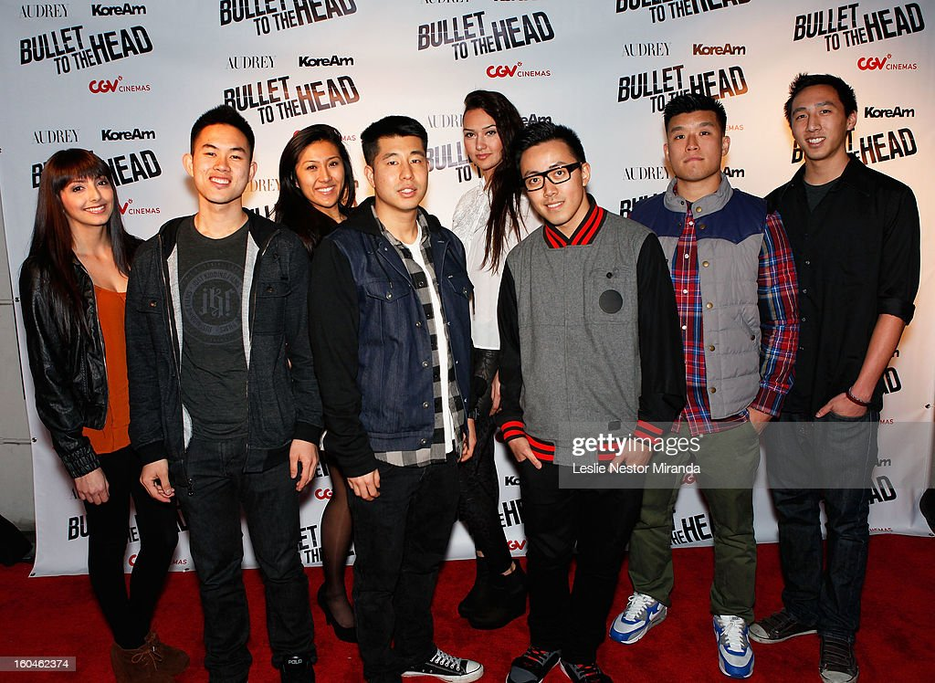 Comedians 'Just Kidding Films' attends 'Bullet To The Head' screening at CGV Cinemas on January 31, 2013 in Los Angeles, California.