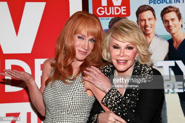 Comedians Kathy Griffin and Joan Rivers attend the TV Guide party to celebrate The Power List and the 3000th issue at GILT at The New York Palace...
