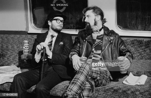 Comedians Kenny Everett and Billy Connolly in a sketch from the BBC television series 'The Kenny Everett Television Show', January 27th 1982.