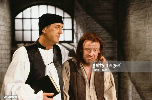 Comedians Les Dennis and Russ Abbot in a sketch from the BBC Television series 'The Russ Abbot Show' May 17th 1991