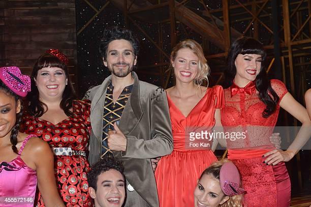 Comedians Lola Ces Vincent Heden Aurore Delplace Fanny Fourquez and Alexandre Faitrouni perform during the 'Love Circus' Press Preview At the Folies...