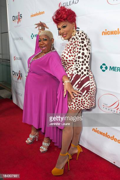 Comedians Luenell and Flame Monroe attends the 23rd Annual HIV/AIDS benefit concert DIVAS Simply Singing at Club Nokia on October 12 2013 in Los...