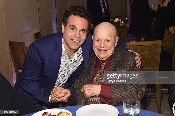 Comedians Mario Cantone and Don Rickles attend the 10th Annual Exploring The Arts Gala at Radio City Music Hall on September 15 2016 in New York City