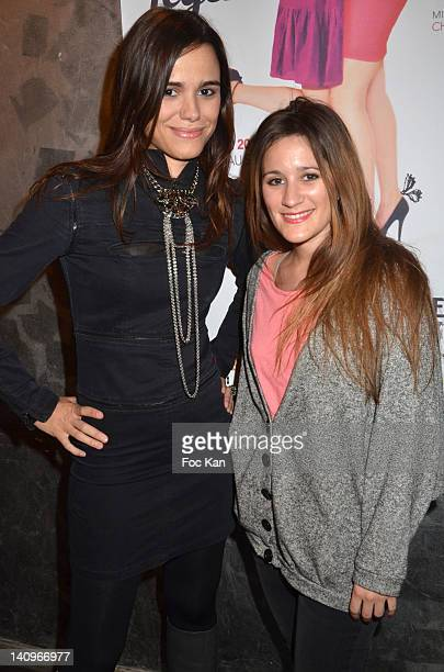 Comedians Melissa Mars and Maeva Meline attend the 'Legeres Sans Filtre' Ð Generale at Theatre Du Temple on March 8 2012 in Paris France