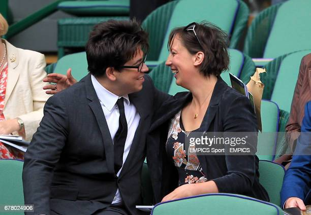 Comedian's Michael McIntyre and Miranda Hart in the royal box