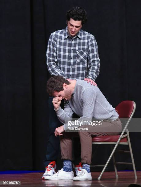 Comedians Middleditch Schwartz are Thomas Middleditch and Ben Schwartz perform during Nashville Comedy Festival on April 22 2018 at Ryman Auditorium...