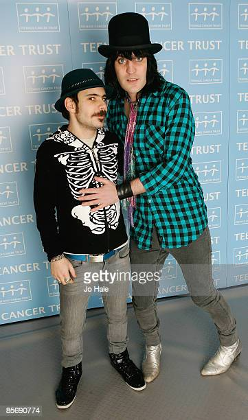 Comedian's Mike Fielding and Noel Fielding pose backstage during the sixth and final night of a series of concerts and events in aid of Teenage...