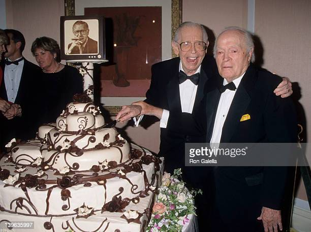 Comedians Milton Berle and wife Bob Hope attending 90th Birthday Party for Milton Berle on July 12 1998 at the Beverly Hills Hotel in Beverly Hills...
