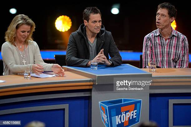 Comedians Mirja Boes Dieter Nuhr and Maddin Schneider perform during the taping of the anniversary show '30 Jahre RTL Die grosse Jubilaeumsshow mit...