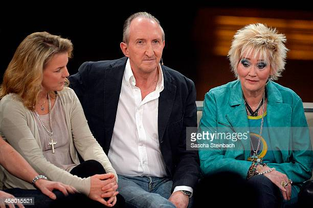 Comedians Mirja Boes Mike Krueger and Gaby Koester attend the taping of the anniversary show '30 Jahre RTL Die grosse Jubilaeumsshow mit Thomas...