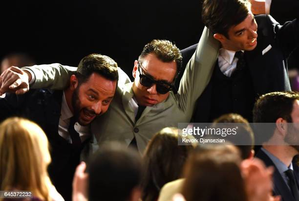 Comedians Nick Kroll Fred Armisen and John Mulaney during the 2017 Film Independent Spirit Awards at the Santa Monica Pier on February 25 2017 in...