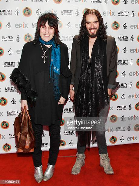Comedians Noel Fielding and Russell Brand attend Amnesty International's Secret Policeman's Ball 2012 at Radio City Music Hall on March 4 2012 in New...