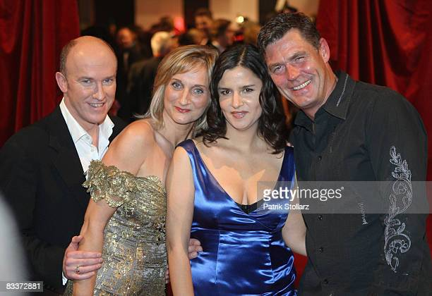 Comedians of the TVcomedy 'switch reloded' Peter Nottmeier Petra Nadolny Mona Sharma and Michael Mueller arrive at the 2008 Comedy Awards at Coloneum...