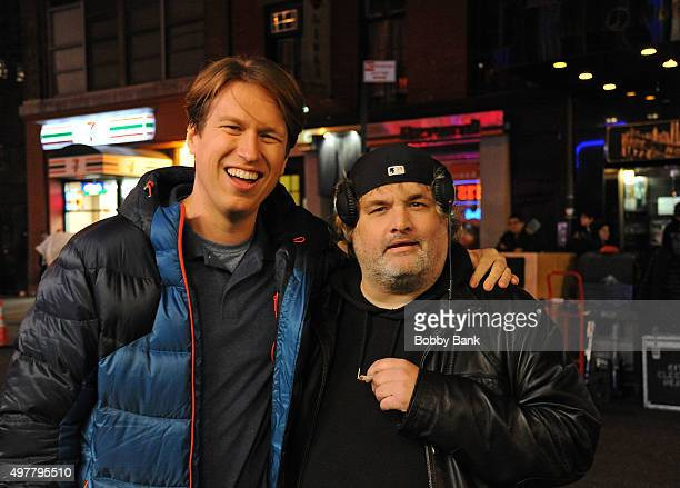 Comedians Pete Holmes and Artie Lange on the set of HBO's pilot Crashing on November 18 2015 in New York City