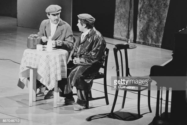 Comedians Peter Cook and Dudley Moore as 'Pete and Dud' at the London Palladium UK 27th September 1965