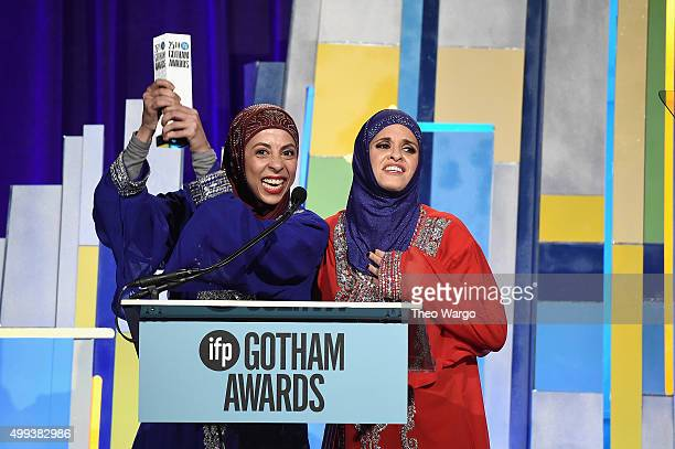 Comedians Radhika Vaz and Nadia Manzoor of 'Shugs And Fats' speak onstage during the 25th Annual Gotham Independent Film Awards at Cipriani Wall...