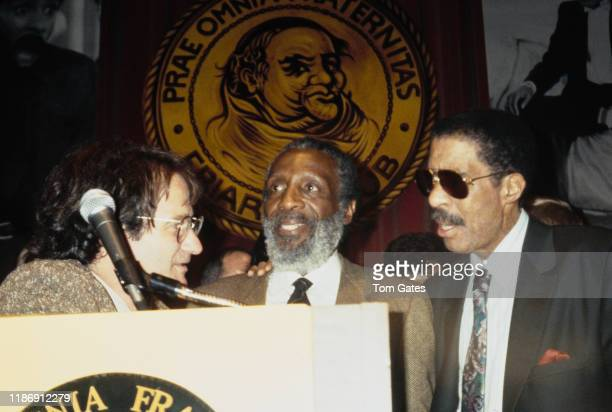 Comedians Robin Williams and Richard Pryor at a Friars Club roast at the Friars Club in New York City, 1991. Williams is the roastmaster and Pryor is...