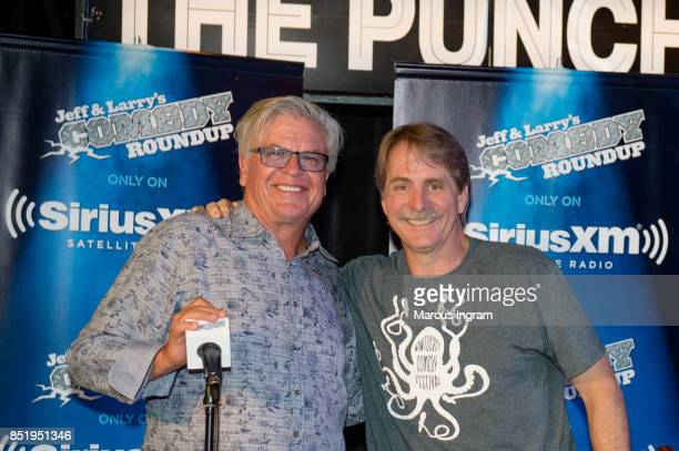 Comedians Ron White and Jeff Foxworthy onstage during the 'A Comic Mind' event at The Punchline Comedy Club on September 20 2017 in Atlanta Georgia