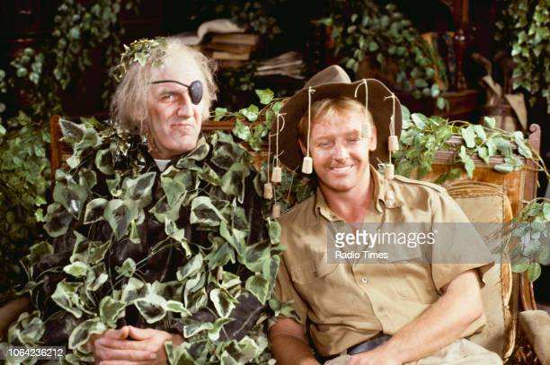 Comedians Russ Abbot and Les Dennis in a wildlife sketch from BBC Television series 'The Russ Abbot Show' August 1st 1989
