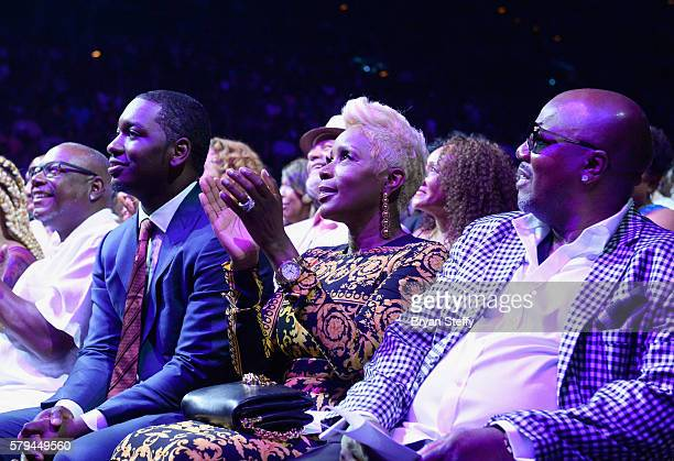 Comedians Sommore and Earthquake during the 2016 Neighborhood Awards hosted by Steve Harvey at the Mandalay Bay Events Center on July 23 2016 in Las...