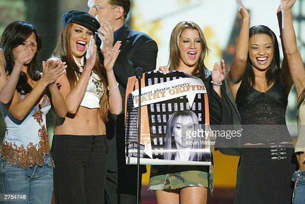 Comedians 'The Juggies' speak on stage during Comedy Central's First Ever Awards Show 'The Commies' held on November 22 2003 at Sony Pictures Studios...