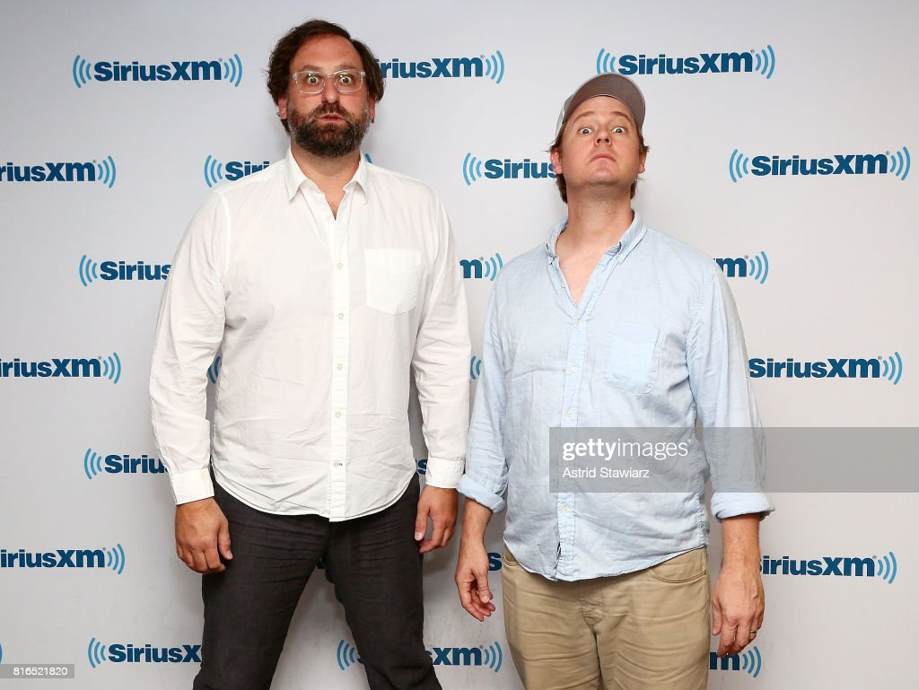 Comedians Tim Heidecker and Eric Wareheim visit the SiriusXM Studios on July 17, 2017 in New York City.