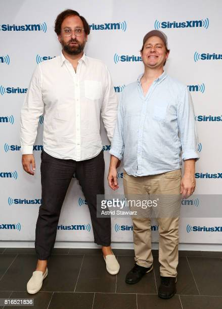 Comedians Tim Heidecker and Eric Wareheim visit the SiriusXM Studios on July 17 2017 in New York City