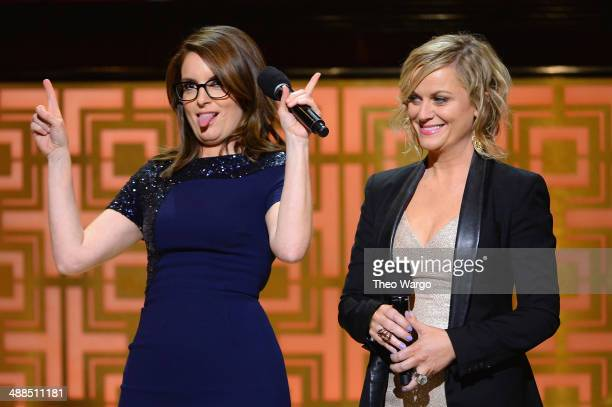 Comedians Tina Fey and Amy Poehler speak onstage at Spike TV's 'Don Rickles One Night Only' on May 6 2014 in New York City