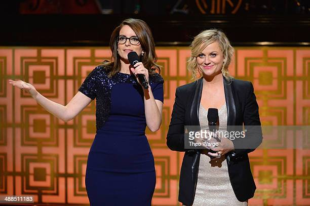 Comedians Tina Fey and Amy Poehler speak onstage at Spike TV's Don Rickles One Night Only on May 6 2014 in New York City