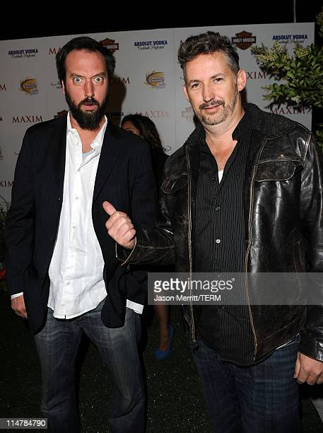 Comedians Tom Green and Harland Williams arrive at the 11th annual Maxim Hot 100 Party with HarleyDavidson ABSOLUT VODKA Ed Hardy Fragrances and...