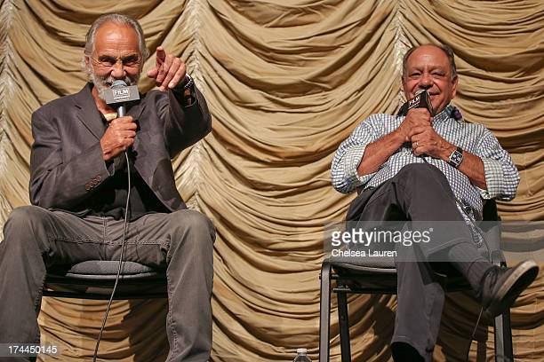 Comedians Tommy Chong and Cheech Marin speak at Film Independent's 'Up In Smoke' special screening at Bing Theatre At LACMA on July 25 2013 in Los...