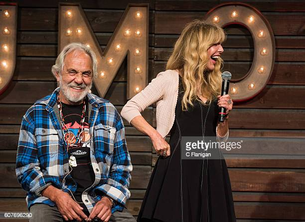 Comedians Tommy Chong and Shelby Chong and Chong perform on the Humor Me Stage during the 2016 KAABOO Del Mar at the Del Mar Fairgrounds on September...