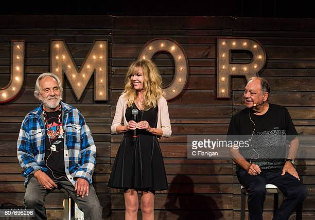 Comedians Tommy Chong Shelby Chong and Cheech Marin perform on the Humor Me Stage during the 2016 KAABOO Del Mar at the Del Mar Fairgrounds on...