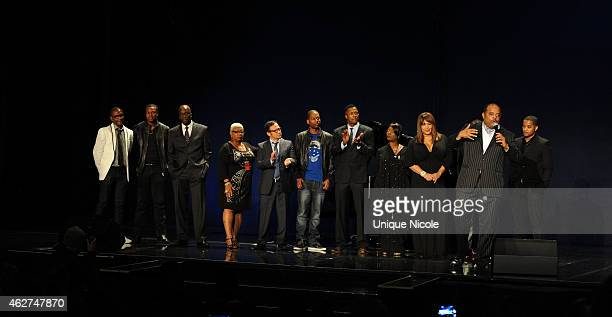 comedians Tommy Davidson Chris Tucker Luenell Campell Rob Schneider Flex Phyllis Yvonne Stickney Kim Whitley share the stage at Dick Gregory Friends...