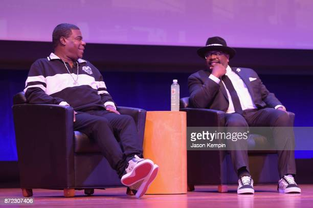 Comedians Tracy Morgan and Cedric The Entertainer speak onstage during the TBS Comedy Festival 2017 The Last OG's Presents A Toast To The OG's Of...