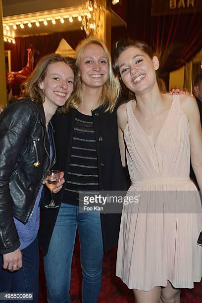 Comedians Watelet Philippine Morgane Germain and Mathilde Ollivier attend the 'Mistinguett Reine des Annes Folles' At The Casino De Paris on June 3...