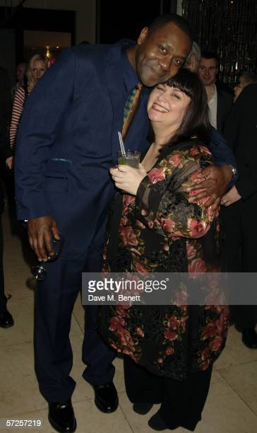 Comedians/actors Lenny Henry and wife Dawn French attend the after show party following the West End transfer and press night of the Lyric Theatre...
