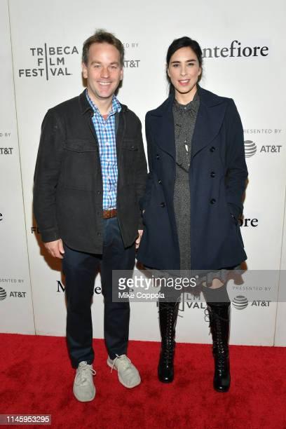 Comedians/actors Mike Birbiglia and Sarah Silverman attend Tribeca Talks Storytellers Sarah Silverman With Mike Birbiglia 2019 Tribeca Film Festival...