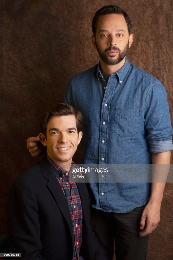 Comedians/actors Nick Kroll and John Mulaney are photographed for Los Angeles Times on February 15, 2017 in Hollywood, California. PUBLISHED IMAGE.