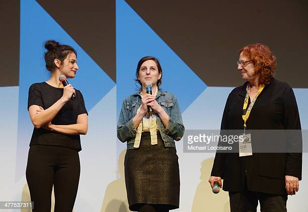 Comedians/actress Jenny Slate filmmaker Gillian Robespierre and SXSW Film Festival Director Janet Pierson takes part in a QA following the Obvious...
