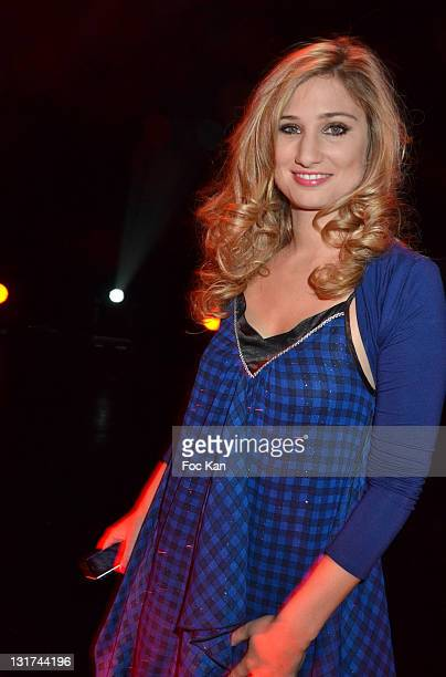 Comedian/singer Diane Dassigny attends the 'Mozart Rock Opera' 3D Movie Premiere at the Grand Rex on November 7 2011 Paris France