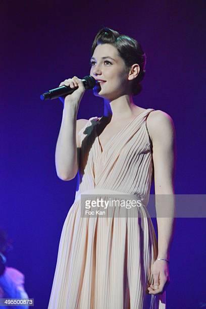 Comedian/singer Mathilde Ollivier performs during the 'Mistinguett Reine des Annes Folles' At The Casino De Paris on June 3 2014 in Paris France