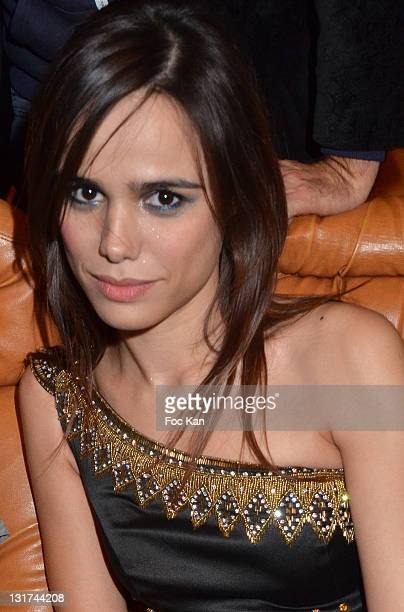 Comedian/singer Melissa Mars attends the 'Mozart Rock Opera' 3D Movie Premiere at the Grand Rex on November 7 2011 Paris France