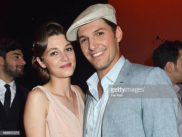 Comedians/singers Mathilde Ollivier and Gregory Benchenafi attend the 'Mistinguett Reine des Annes Folles' At The Casino De Paris on June 3 2014 in...