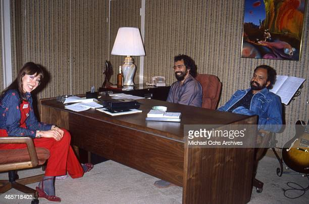 ComediansTommy Chong and Cheech Marin during an interview to promote their movie 'Nice Dreams' which was released in June 1981