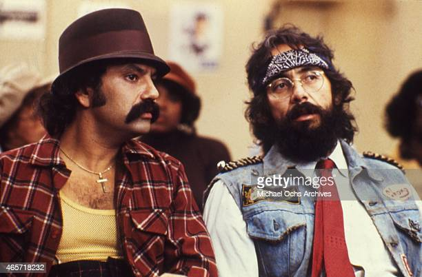 ComediansTommy Chong and Cheech Marin in a scene from the movie Cheech And Chong's Next Movie in July 1980