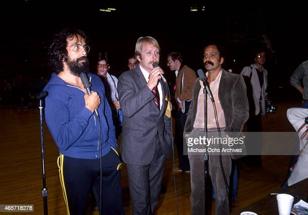ComediansTommy Chong Martin Mull and Cheech Marin attend an event in circa 1984