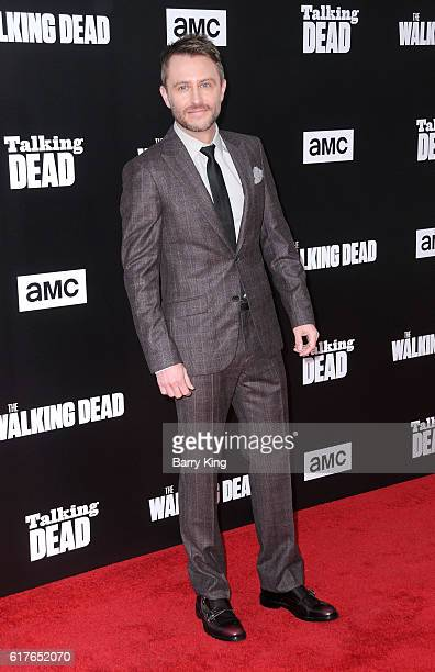 Comedian/talking dead host Chris Hardwick attends AMC Presents Live 90Minute Special Edition of 'Talking Dead' at Hollywood Forever on October 23...
