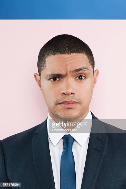 Comedian/TV host Trevor Noah is photographed for The Guardian Newspaper on March 11 2016 in New York City